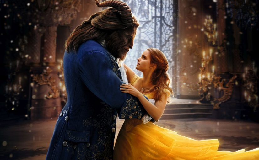 Disfrutando del estreno de La Bella y La Bestia