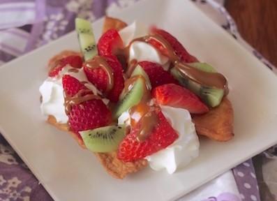 Postre de Frutas con Dulce de Leche