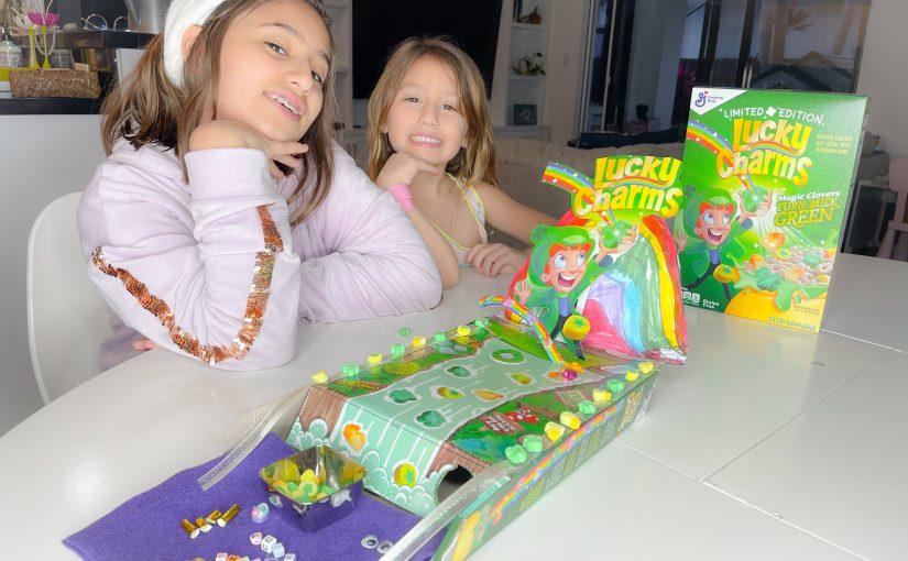 Leprichaun Traps con cajas de LuckyCharms